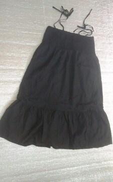 elsal 黒 ワンピース スカート どちらでも 美品
