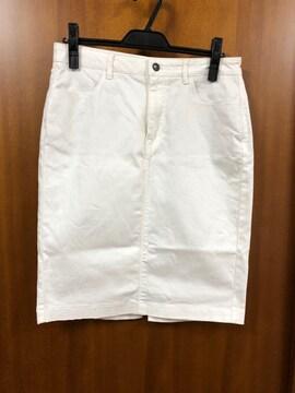 無印☆白☆デニムスカート