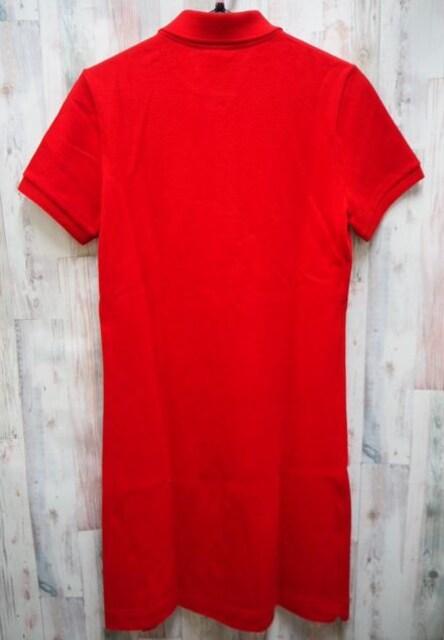 LACOSTE ラコステ 半袖 ポロシャツ ワンピース L 赤 < ブランドの