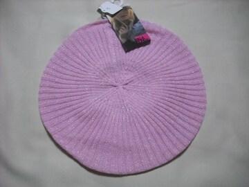 wb276 女 BILLABONG ビラボン ベレー帽 薄ニット ピンク