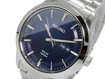 セイコー SEIKO ソーラー SOLAR  腕時計 SNE361P1 ネイビー