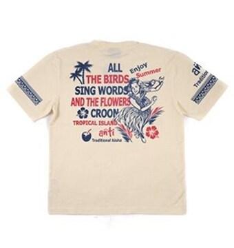 新作/ANTI/Tシャツ/白/XL/ATT-144/エフ商会/テッドマン/サンサーフ/ハワイアン