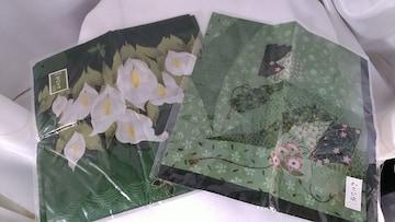 素敵(^O^)★和風★わさび染め★ハンカチ2枚セット★