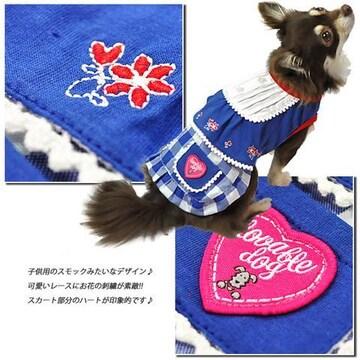◆新品◆スモック風ワンピース◆3号◆3,980円◆ブルー