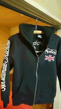 Norton ENGLAND ジップアップ ボア パーカー 黒 men's