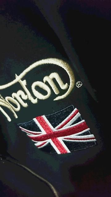Norton ENGLAND ジップアップ ボア パーカー 黒 men's < 男性ファッションの