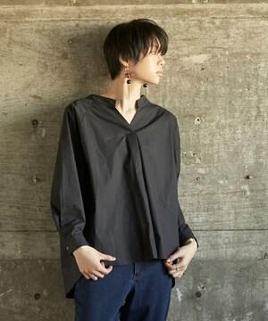 mietteバックドロストスキッパーワイドシャツ