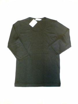 □EDIFICE/エディフィス 針抜フライス U首 七分袖 Tシャツ/メンズ☆新品