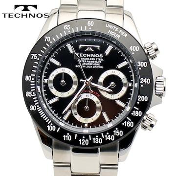 TECHNOS(テクノス)クロノグラフ腕時計 TSM401TB