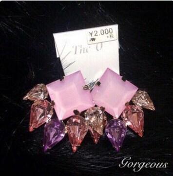定価2,160円 ビジューピアス【新品未使用】Pink ピンク