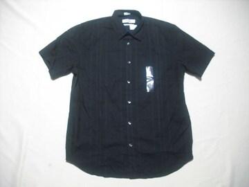 63 男 CK CALVIN KLEIN カルバンクライン 黒 半袖シャツ Mサイズ