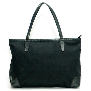 ETROエトロ トートバッグ ロゴ柄 黒 キャンバス 良品 正規品