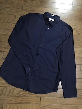 カルバン・クライン ネイビーカラーシャツメンズ オーバーサイズ
