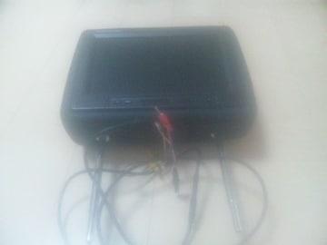 ヘッドレスト9インチモニター(黒)左右セット