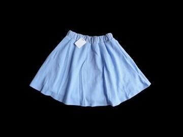 新品 リエンダ rienda 水色 チェック フレア ミニ スカート S