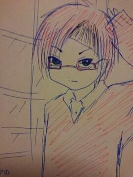 高知県の男の子�@オリジナル自作イラスト原画