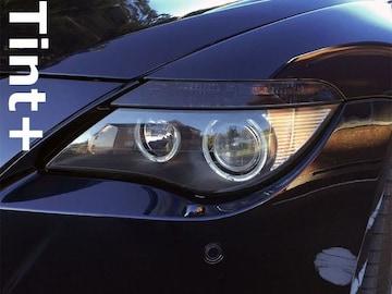 Tint+ 何度も貼れる ○ BMW E63アイライン スモークフィルム