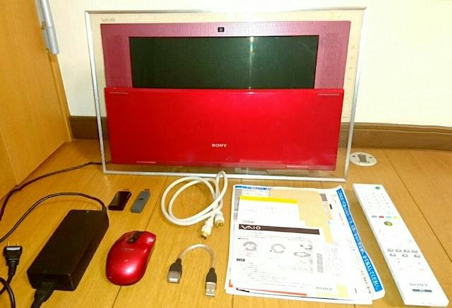 ソニー デスクトップ一体型PC パソコン テレビ レッド 赤 vgc-lj < PC本体/周辺機器の