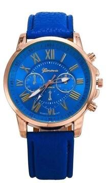 期間限定割引690円★休日お洒落に腕時計ブルー初期不良保証