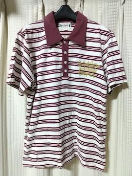 ワコマリアWACKO MARIA刺繍ボーダー半袖ポロシャツSサイズルード日本製デザイナー服
