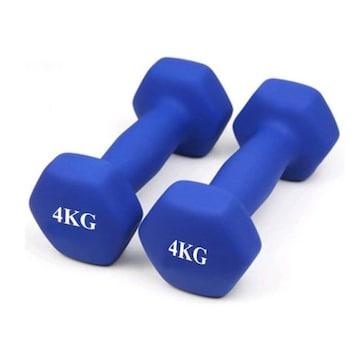 ダンベル 2個セット 4kg×2個セット /ブルー A