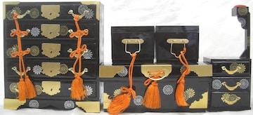 伝統工芸!雛人形/小道具,5段タンス、おかもち、お針箱中古