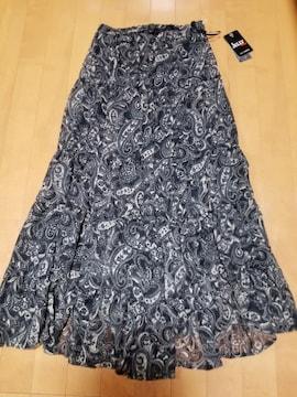 ◆ペイズリーシフォンマキシロングスカート◆