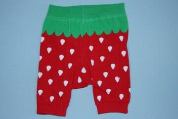 いちご柄子供用キッズショートスパッツ/レギンス80-100イチゴ