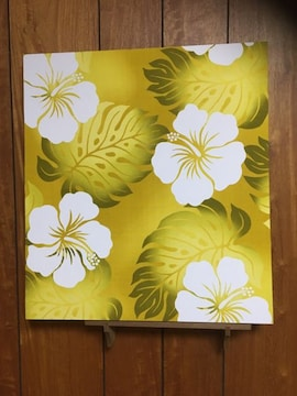 ハワイアン生地☆木製ファブリックパネル♪50