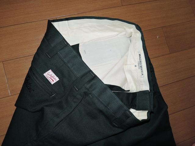 ワコマリアWACKO MARIAクロップドパンツM緑系7分丈パンツ < ブランドの