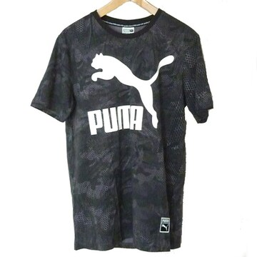 新品M★PUMA 黒ビッグロゴTシャツプーマ