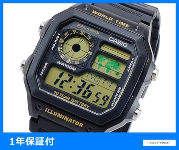 新品 即買■カシオ スタンダード デジタル 腕時計 AE-1200WH-1B