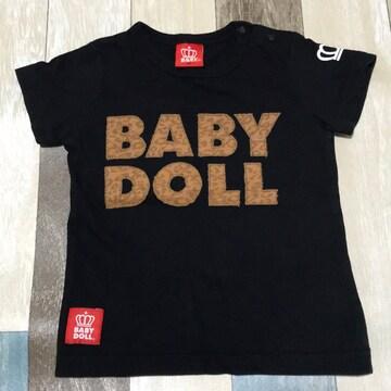 ∂+/BABY  DOLL 豹柄ロゴTシャツ 90