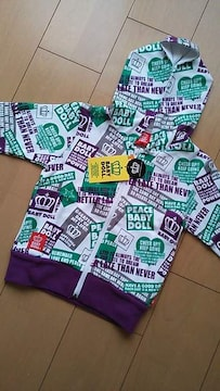 新品総柄パーカー100紫ベビドBABYDOLLベビードール