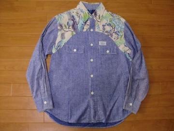 70年代 SURF LINE ハワイアン シャンブレーシャツ ML