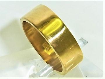 K24 純金 リング 指輪 平打 サイズ#9