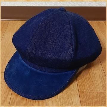 CA4LA カシラ キャスケット ハンチング デニム レザー 未使用 帽子 CAP