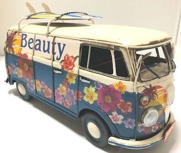 一点物ブリキのおもちゃシリーズ�Bワーゲンバス風ブリキ