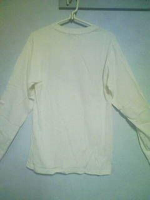 Aー328☆新品☆カレッジロンT ホワイト L < 男性ファッションの