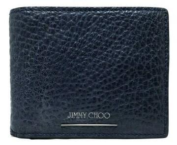 正規ジミーチュウ型押しレザー財布札入れ二つ折り札入メンス