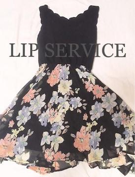 LIP SERVICEリップサービス スカラカットフラワーワンピース