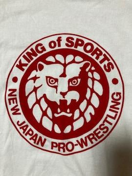 プロレス 新日本プロレス オリジナル デザイン Tシャツ ホワイト Sサイズ