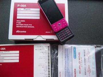 *P-08A/P08A* ピンク☆*彡 超美品☆゜+。*。+★