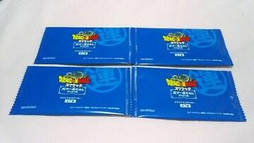 【ドラゴンボール】スクラッチ☆オリジナルステッカー4枚☆未開封☆