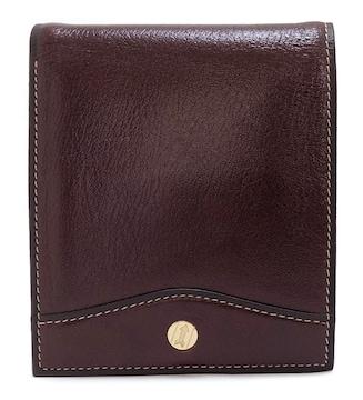 未使用正規ゴールドファイル財布二つ折りレザーバーガ