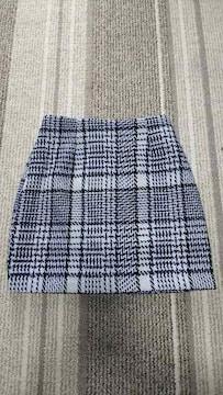 H&M スカート チェック柄 ミニスカート 新品