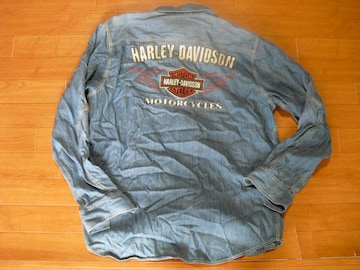 ハーレーダビッドソン デニムシャツ USA-L