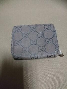 即決☆GUCCI☆グッチ☆2つ折り財布☆正規品☆ファスナー財布