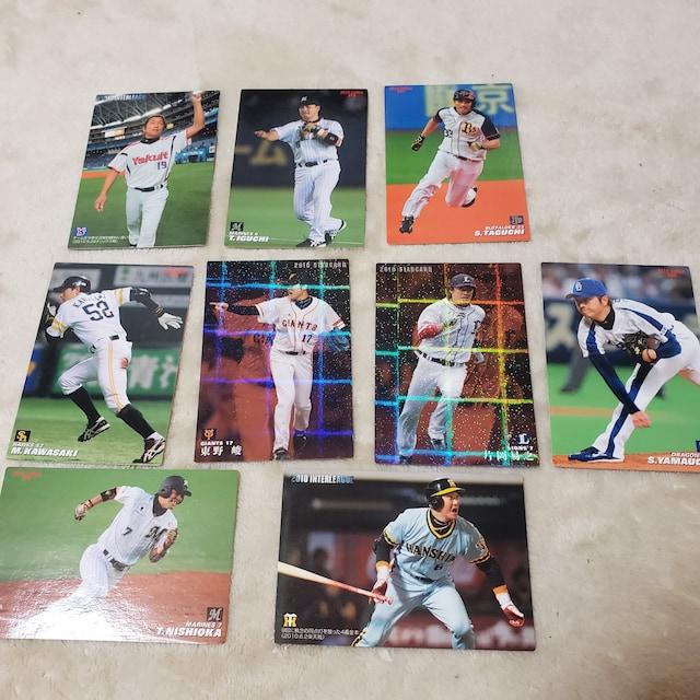 カルビー ベースボールカード 2010コレクション 9枚  < トレーディングカードの