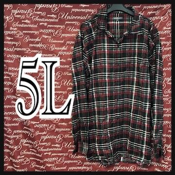 5L・カジュアルチェックネルシャツ新品/MCK609-004